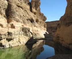 Sesriem Canyon in Namib Desert