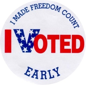 "The ""I voted early"" sticker"