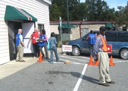 One of seven voting stations in Durham that allowed early voting