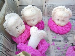 Sugar baby heads for sale on local market