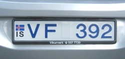 License plate from Iceland