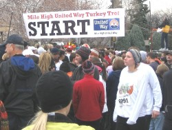 Start of the Denver turkey trot