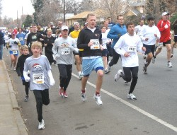 Runners during the turkey trot