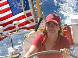 Corinna at the helm