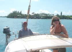 Philip and Corinna outside of St. George, Bermuda