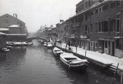 Venice covered with snow in 1987