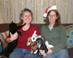 Happy holidays - Prettige Feestdagen from Q-Kitty, Diane, Sabrina, Roxy and Wessel
