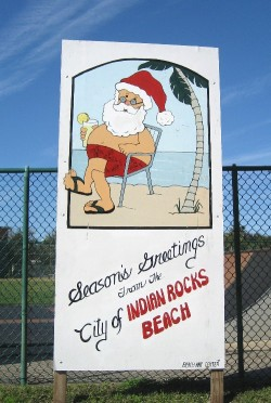 Santa had some dowtime on the beach after Christmas
