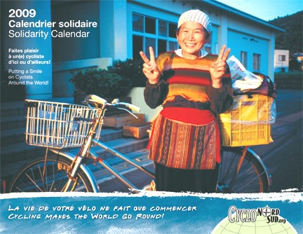 Cover page of Bicycle Solidarity Calendar 2009