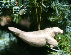 Manatee as Christmas tree ornament