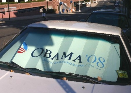Obama windscreen cover