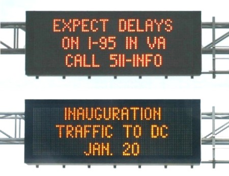 Inauguration traffic blues