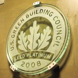 The US Green Building Council awarded its only platinum award to the Proximity hotel
