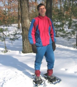 Wessel's first snow shoe experience