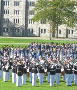 The traditional cadet review at West Point