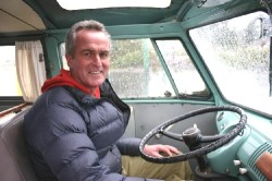 Gordon Hempton in his Volkwagen Bus