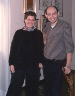 Diane (left) met Federico Lauro in the mid 1980s