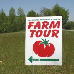 Just follow this sign for the annual Piedmont Farm Tour