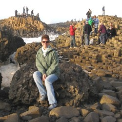 Trish at Giant's Causeway, Antrim Coast