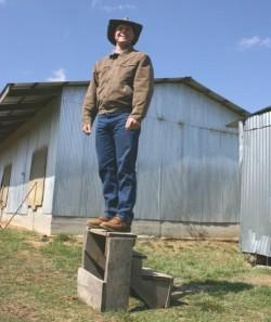 Daniel Salatin welcomes visitors on the farm tour