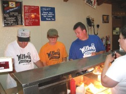 Wilber's take out in full swing