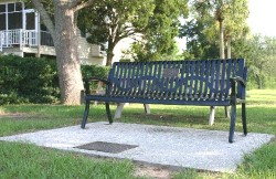The bench on the grounds of the park at Fort Moultrie
