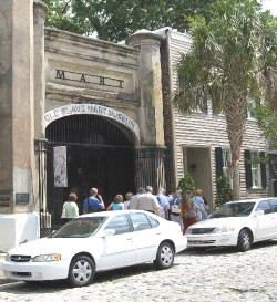 Entrance of Slave Mart Museum in Charleston, SC