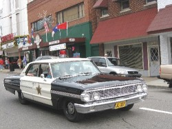 Barney Fife's famous Ford Galaxie squad car