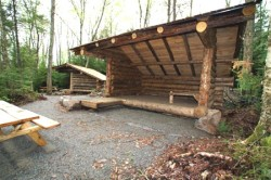 Wheelchair-accessible back country lean-tos at John Dillon Park