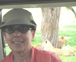 Debra Walk on safari in Seregeti, Tanzania