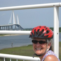 Diane prepares mentally for crossing the Cooper River bridge