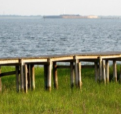 Fort Sumter can be seen in a distance from the shores of Mount Pleasant