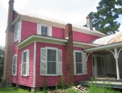 The back of the pink house