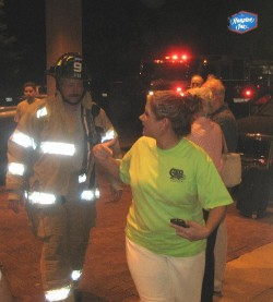 The firefighters has a busy night in Concord