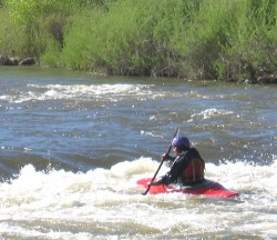 Kayaker in white water of Arkansas River