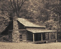 Cook Cabin in the Cataloochee Valley