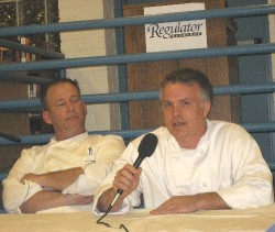 Chefs Jim Anile and Shane Ingram co-hosted the book reading