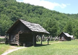 Buildings at Mountain Farm Museum