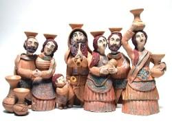 A trademark handcrafted sculptural menorah by Sue Treuman