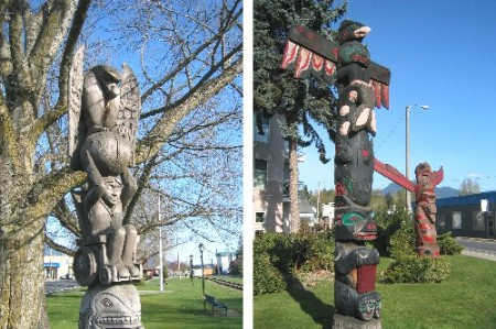 Duncan, the City of Totems, is home to over 80 totem poles