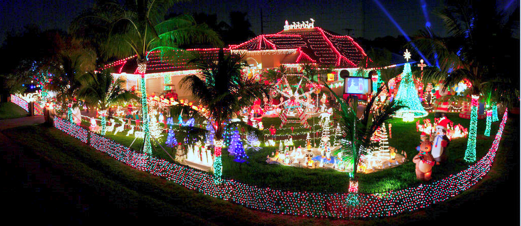 Florida places we go people we see Holiday decorated homes