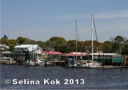 The Southport Yacht Basin, where the Cape Fear River meets the Atlantic Ocean, is home to several seafood restaurants