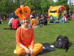 Diane celebrates Queen's Day in Amsterdam in 2010