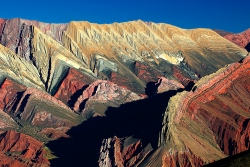 Serrania del Hornocal in Jujuy. Photo by Ossian Lindholm
