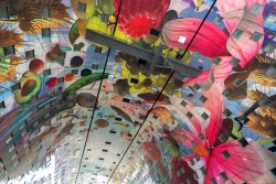 Animated mural 'Horn of Plenty' covers the ceiling (courtesy Markthal Rotterdam)