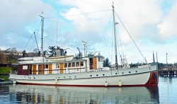 The Westward yacht first launched in 1924 (photo AdventureSmith Explorations)