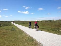 Bike path on the island's eastern side
